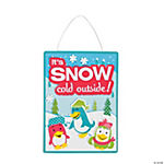 Winter Penguin Sign Craft Kit