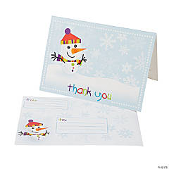 "Winter Children's ""Thank You"" Notes"