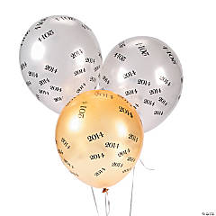 """2014"" Printed Latex Balloons"