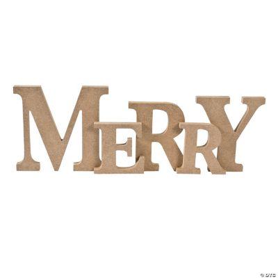 """DIY """"Merry"""" Mantle Display Letters"""