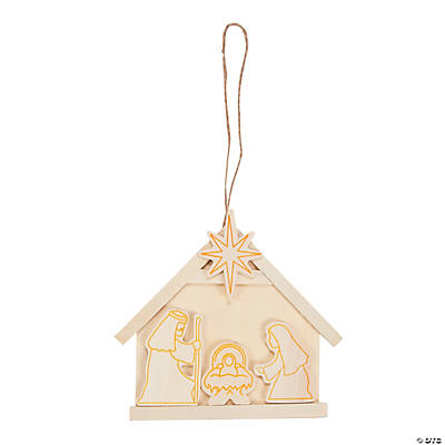 DIY Nativity Christmas Ornaments