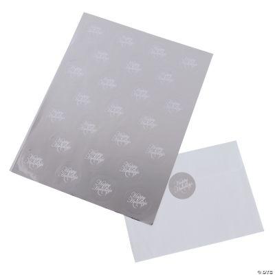 """Happy Holidays"" Silver Foil Envelope Seals"