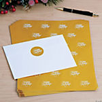 """Happy Holidays"" Gold Foil Envelope Seals"