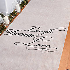 """Laugh, Dream, Love"" Aisle Runner"
