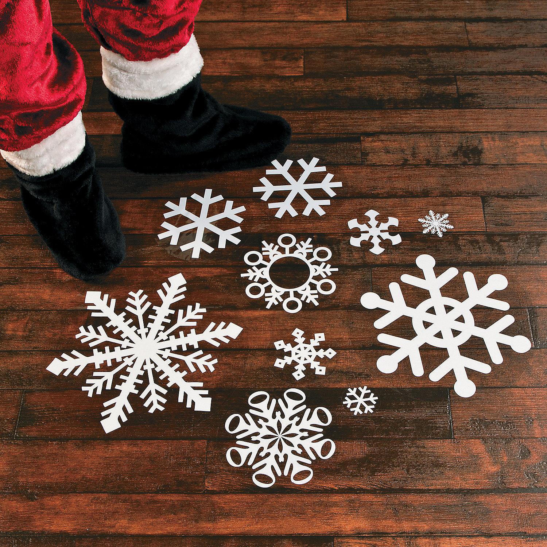 Snowflake Floor Decals Floor Amp Window Clings Party