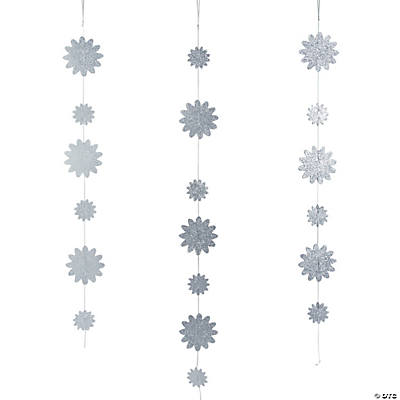 Glittered Hanging Decorations