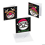 Color Your Own Mini Fuzzy Christmas Cards