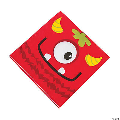 Mini Monster Luncheon Napkins