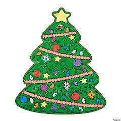 Color Your Own Fuzzy Christmas Tree-Shaped Posters