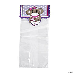 Miss Sock Monkey Cellophane Bags with Header