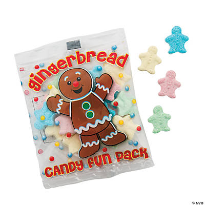 Gingerbread Cookie Candy Fun Packs