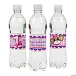 Personalized Miss Sock Monkey Water Bottle Labels