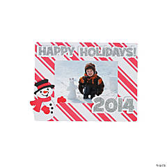 """Happy Holidays 2013/2014"" Picture Frame Magnet Craft Kit"
