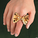 Goldtone Bow Ring