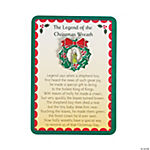 """The Legend of the Christmas Wreath"" Pins on Cards"