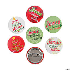 "Mini ""Jesus Is the Reason"" Buttons"