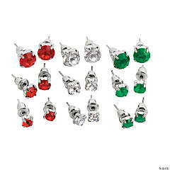Christmas Mix Gem Earrings