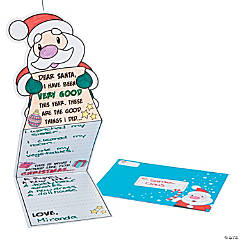 Color Your Own Wish List For Santa Cards