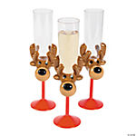 Reindeer Champagne Glasses