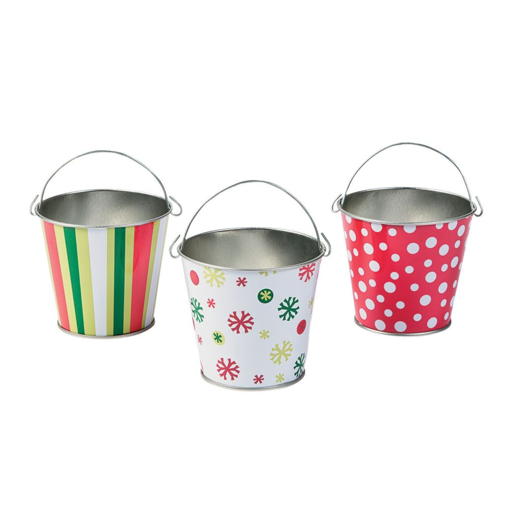 Pails buckets ideas for your wedding for Christmas tin pails