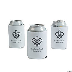 Foam Personalized White Paris Can Covers
