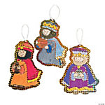 Color Your Own Foil Three Wise Men Christmas Ornaments