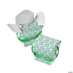 Emerald Swirl Take Out Boxes