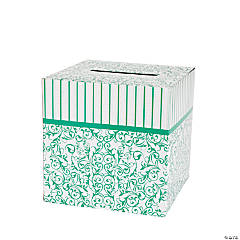 Emerald Green Swirl Card Box
