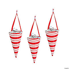 Candy Candy Cane Striped Favor Cones