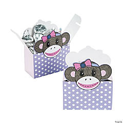 Miss Sock Monkey Favor Boxes