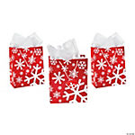 Medium Red & White Snowflake Gift Bags