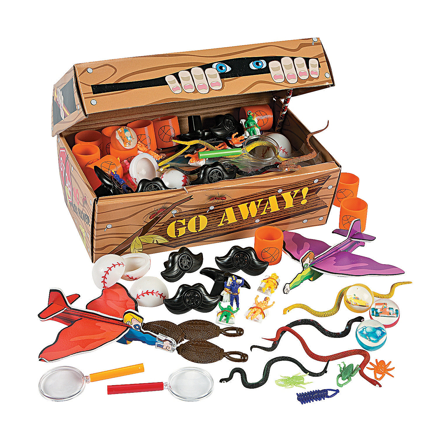 Small Oriental Trading Company Toys : Only boys treasure chest assortment oriental trading