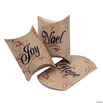 """Hope"", ""Joy"" & ""Noel"" Pillow Boxes"