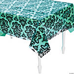 Clear Damask Tablecloth Roll