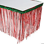 Fringe Table Skirt with Tinsel Top