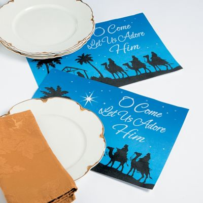 Religious Christmas place mats