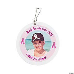 Pink Ribbon Custom Photo Charms