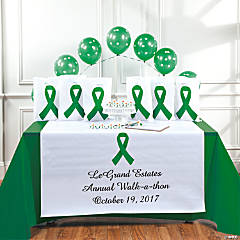 Personalized Green Ribbon Table Runner