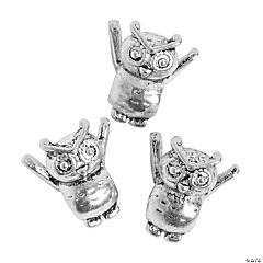 Baby Owl Large Hole Beads