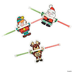 Color Your Own Candy Straw Christmas Characters