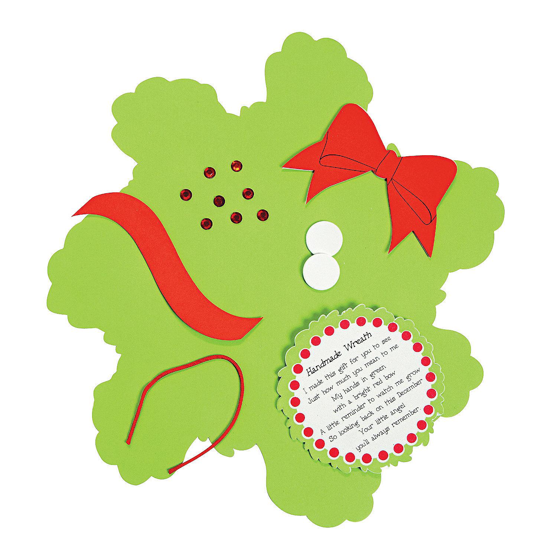 handprint christmas wreath poem images