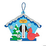 Winter Birdhouse Thermometer Craft Kit