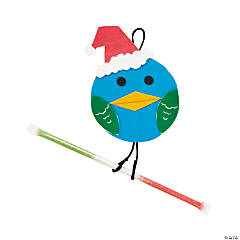 Santa Bird Candy Ornament Craft Kit