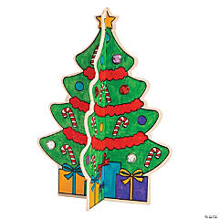 Color Your Own Stand-Up Christmas Trees