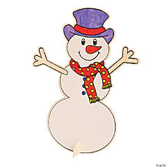 Color Your Own Stand-Up Snowmen