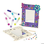 Color Your Own Wood Girly Mirrors