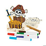 Color Your Own Wood Stand-Up Pirate Signs