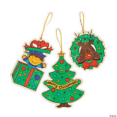 Color Your Own Holiday Ornaments