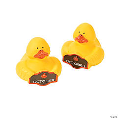 """October"" Rubber Duckies"