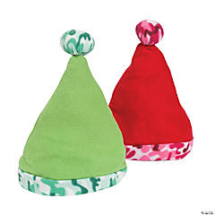 Santa Hats with Camouflage Trim